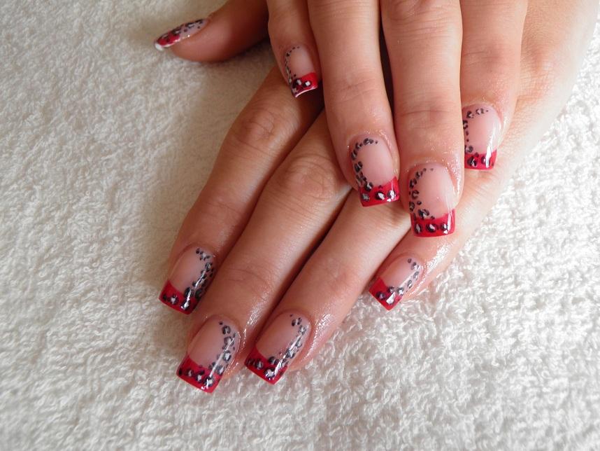 Coloured acrylic nail art your nail technician